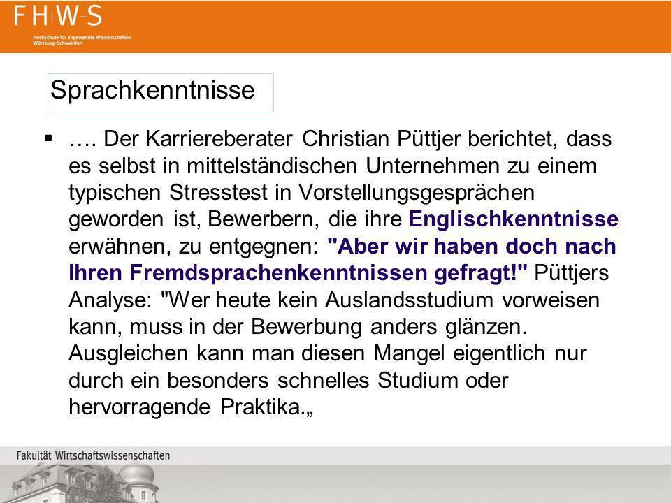 …. Der Karriereberater Christian Püttjer berichtet, dass es selbst in mittelständischen Unternehmen zu einem typischen Stresstest in Vorstellungsgespr
