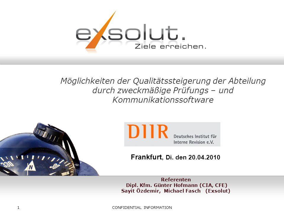 Copyright eXsolut GmbH 32 Danke für Ihre Aufmerksamkeit Questions & Answers ?!