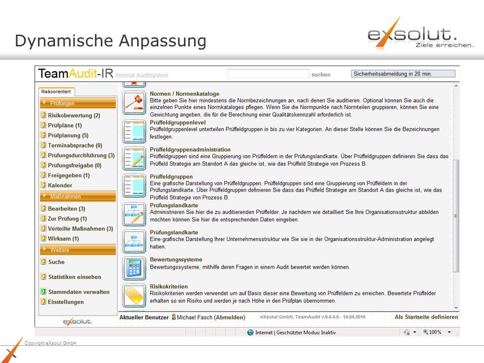 Copyright eXsolut GmbH Dynamische Anpassung