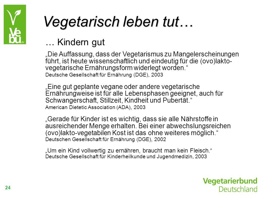 24 … Kindern gut Die Auffassung, dass der Vegetarismus zu Mangelerscheinungen führt, ist heute wissenschaftlich und eindeutig für die (ovo)lakto- vege