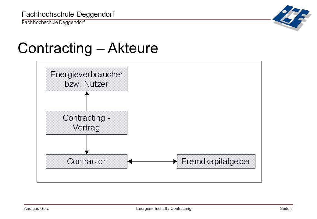 Fachhochschule Deggendorf Energiewirtschaft / Contracting Andreas GeißSeite 14