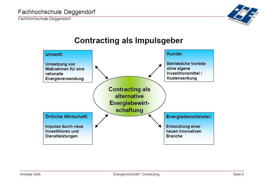 Fachhochschule Deggendorf Energiewirtschaft / Contracting Andreas GeißSeite 16 Reales Contracting - Kombination