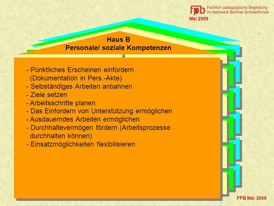 Präsentationsfähigkeit z.B. Kommunikationsrunde, Akquise, Verkaufsgespräch, Produktpräsentation Arbeiten im Team z.B. arbeitsteilige Produktionsprozes
