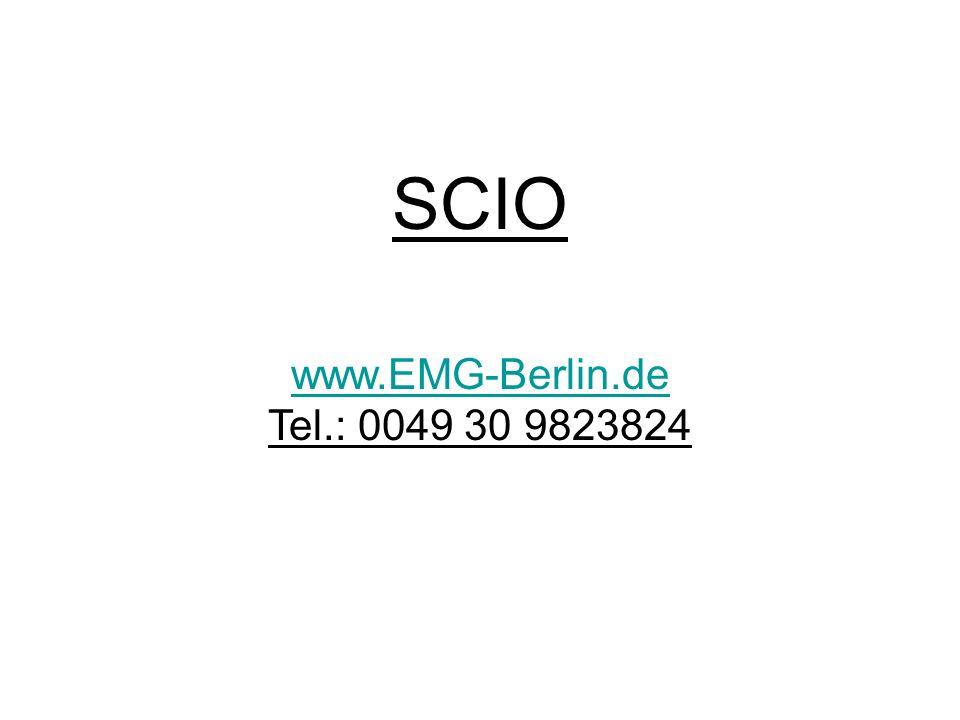 Vitalcoaching SCIO- Testergebnis: Emotionen 164 Seelisce Schmerzen 143 Antagonismus Beachte: Reaktionen zeigen nicht ein Zuviel oder Zuwenig, sondern weisen darauf hin, dass etwas nicht in Balance ist