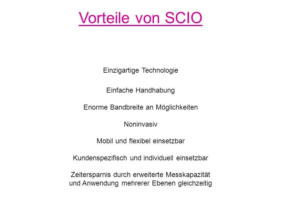 Betriebswirtschaftliche Überlegungen Einnahmen pro Monat (5 Tage pro Woche / 20 Tage pro Monat ) ´ 70,- 180.- 1 EH pro Tag SCIO – VC 1.400.- 3.600.- 2 EH pro Tag SCIO – VC 2.800.- 7.200,- 3 EH pro Tag SCIO – VC 4.200,- 10.800,- 4 EH pro Tag SCIO – VC 5.600,- 14.400,-