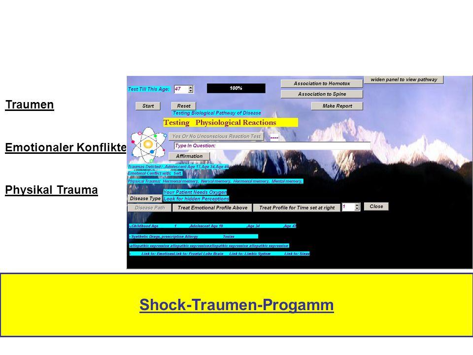 Traumen Emotionaler Konflikte Physikal Trauma Shock-Traumen-Progamm