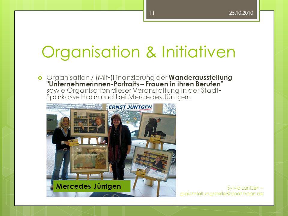 Organisation & Initiativen Organisation / (Mit-)Finanzierung der Wanderausstellung