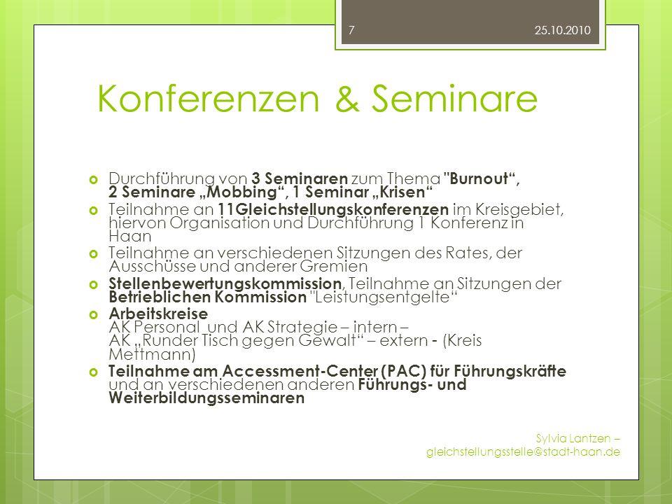 Konferenzen & Seminare Durchführung von 3 Seminaren zum Thema