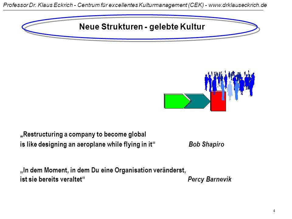 Professor Dr. Klaus Eckrich - Centrum für excellentes Kulturmanagement (CEK) - www.drklauseckrich.de 3 Führen und Verändern - die ganzheitliche Dimens