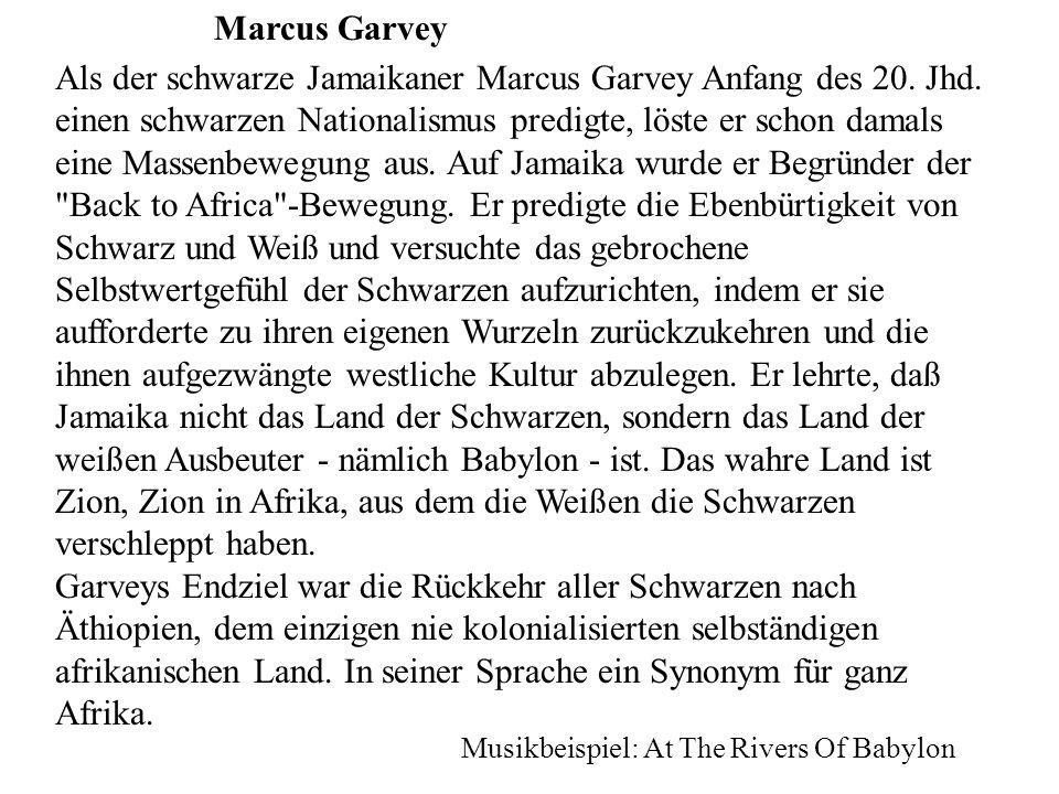 Marcus Garvey Als der schwarze Jamaikaner Marcus Garvey Anfang des 20.