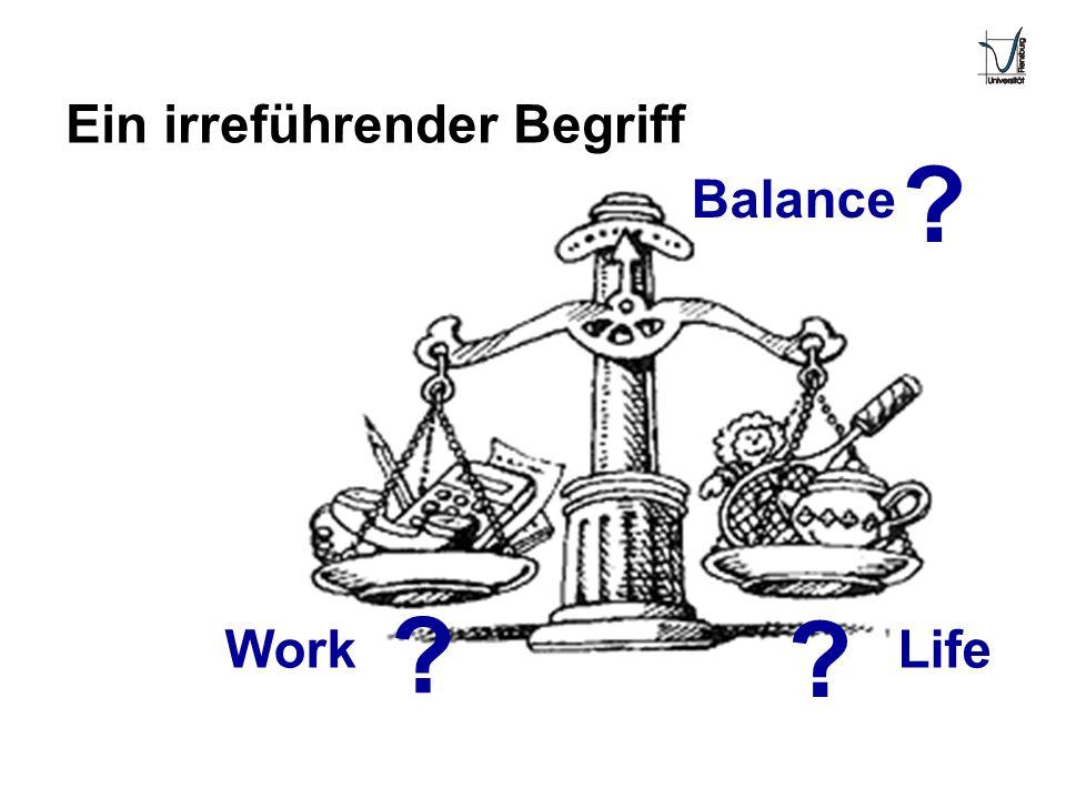 WorkLife Balance ? ? Ein irreführender Begriff ?