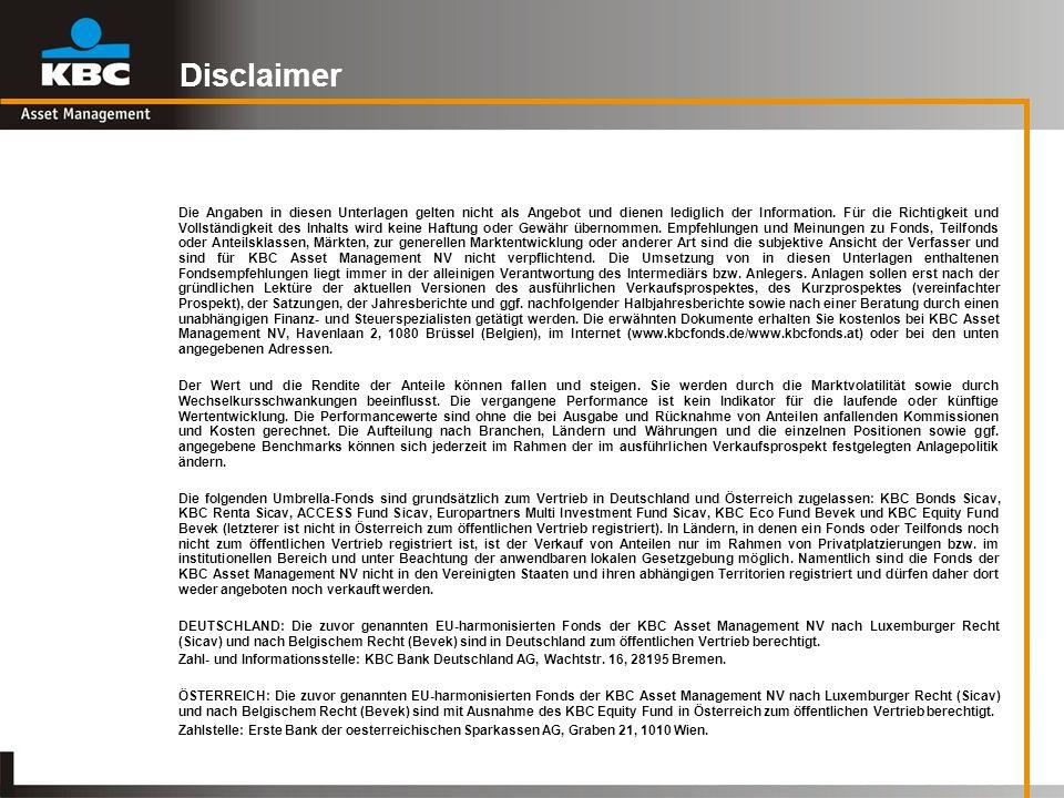 Disclaimer Die Angaben in diesen Unterlagen gelten nicht als Angebot und dienen lediglich der Information. Für die Richtigkeit und Vollständigkeit des