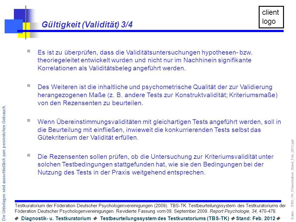 Datei:...\TBS_TK_Präsentation_Stand_Feb_2012.ppt Diagnostik- u. Testkuratorium Testbeurteilungssystem des Testkuratoriums (TBS-TK) Stand: Feb. 2012 Di