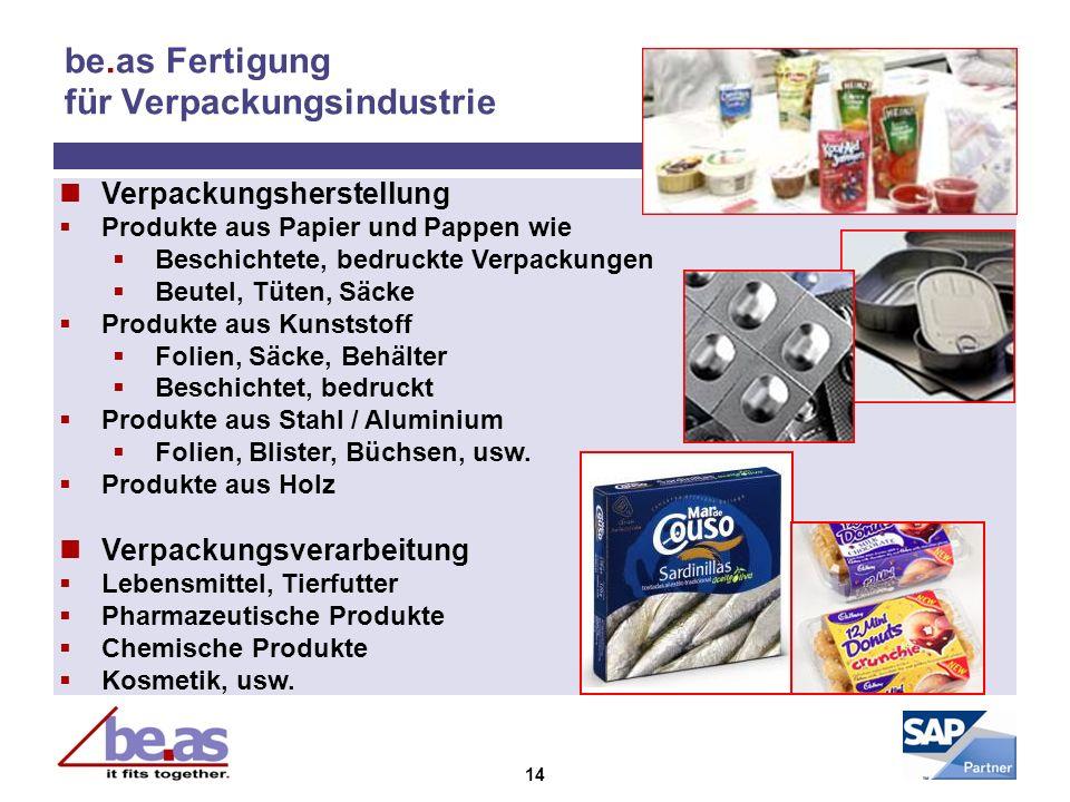 14 be.as Fertigung für Verpackungsindustrie Verpackungsherstellung Produkte aus Papier und Pappen wie Beschichtete, bedruckte Verpackungen Beutel, Tüt