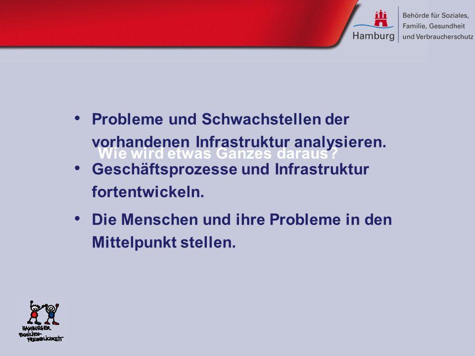 Wie wird etwas Ganzes daraus? Probleme und Schwachstellen der vorhandenen Infrastruktur analysieren. Geschäftsprozesse und Infrastruktur fortentwickel