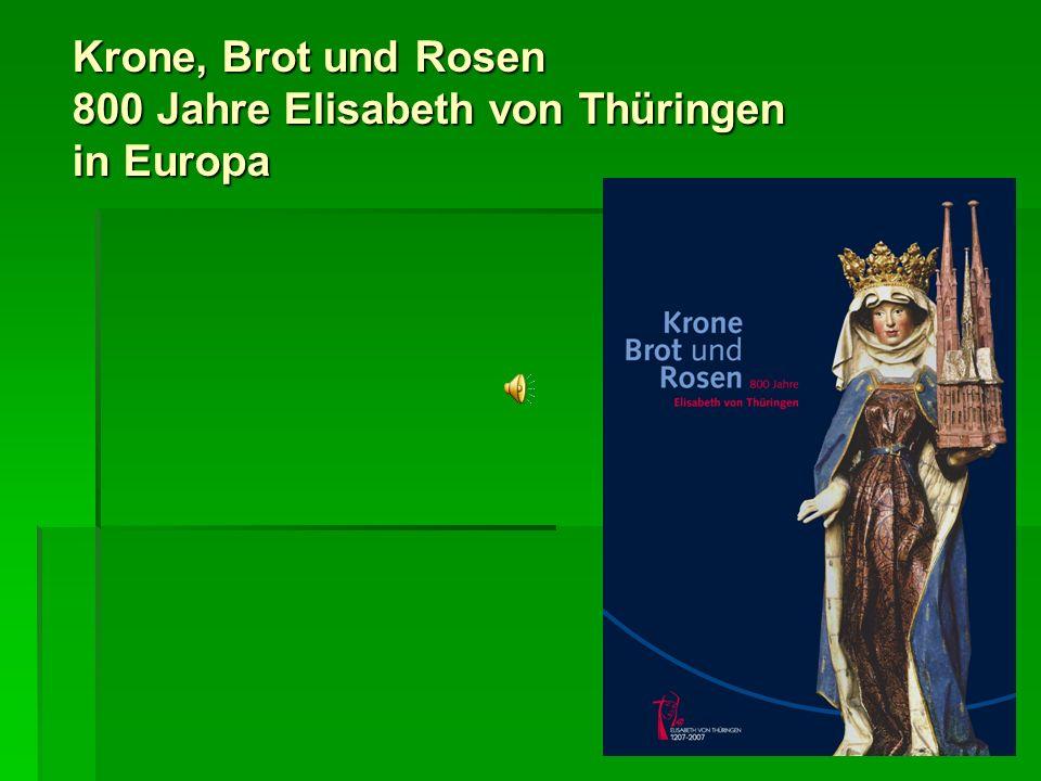 Krone, Brot und Rosen 800 Jahre Elisabeth von Thüringen in Europa ESTLAND Dabei stand er unter dem Einfluss der Tafelmalereien im Lübecker Heilig-Geist-Hospital, wo ein unbe- kannter Meister aus dem Umfeld des Conrad von Soest um 1420/30 den größten bis heute erhaltenen Gemäldezyklus zu Elisabeth geschaffen hatte.