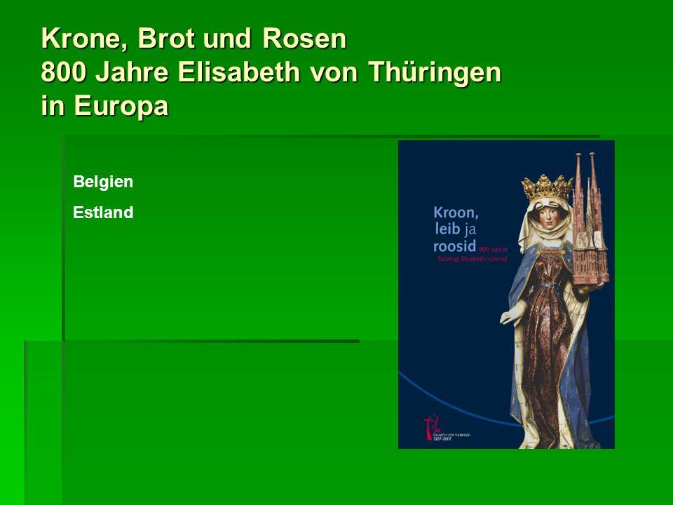 Krone, Brot und Rosen 800 Jahre Elisabeth von Thüringen in Europa SCHWEIZ In zahlreichen anderen Orten der Schweiz haben sich ältere Kunst- werke erhalten, die Elisabeth ge- widmet sind, hinzu kommt eine ganze Reihe moderner Darstellungen.