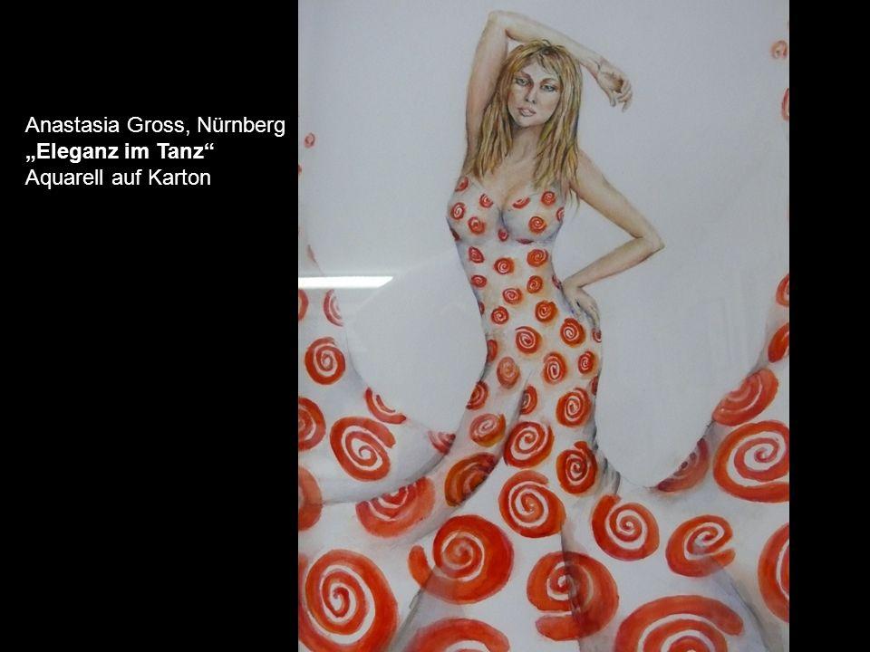 Anastasia Gross, Nürnberg Eleganz im Tanz Aquarell auf Karton
