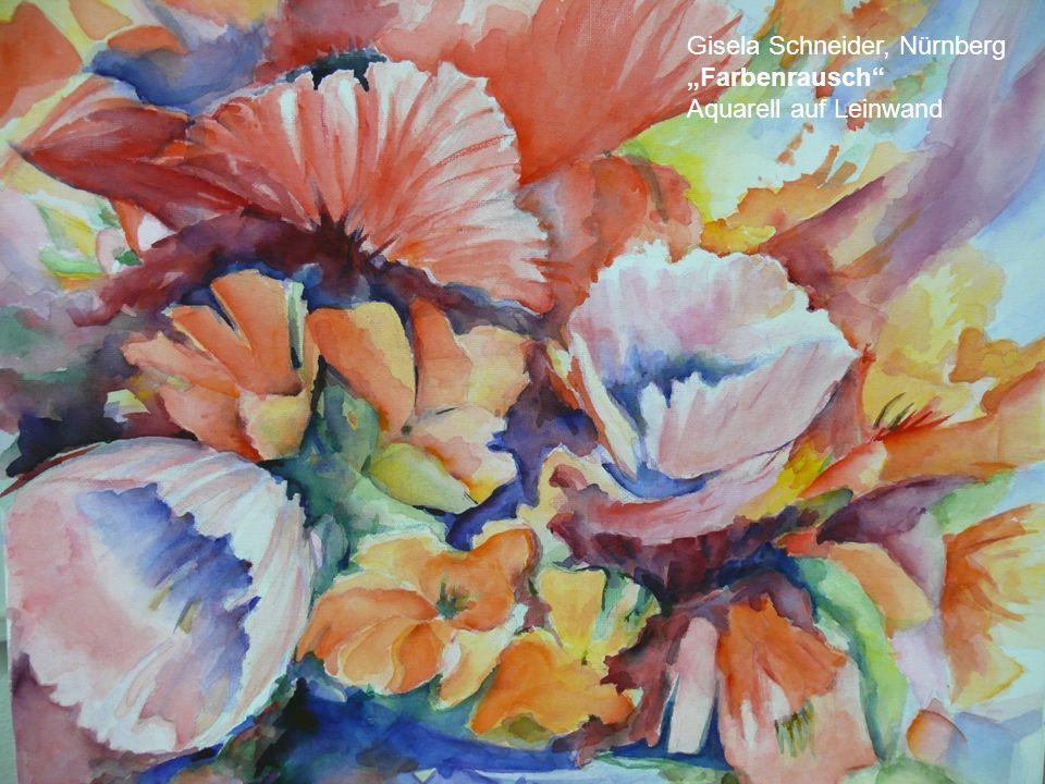 Irina Kotliar, 55 Blumenvase Acryl mit Spachtelmasse