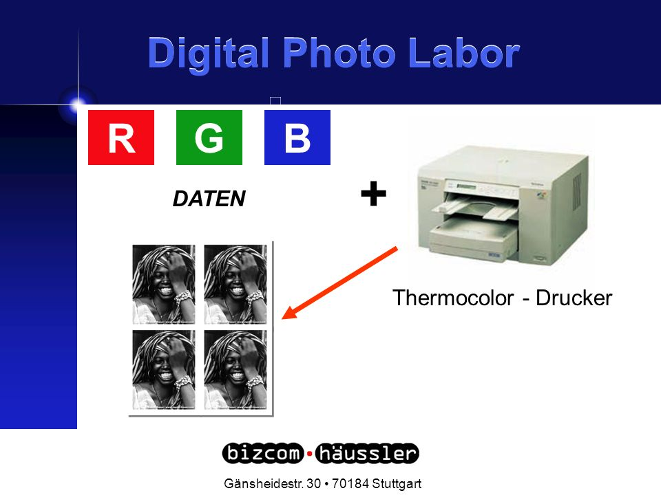 . Gänsheidestr Stuttgart Digital Photo Labor + BRG DATEN Thermocolor - Drucker