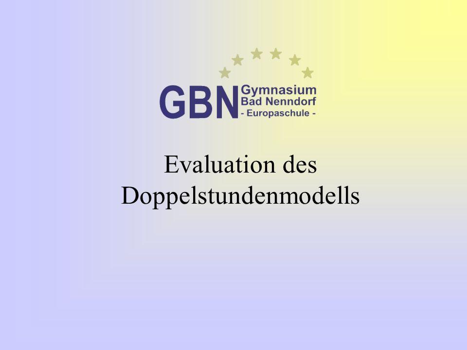 Evaluation des Doppelstundenmodells