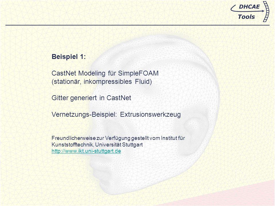 Beispiel 1: SimpleFoam-Modellierung