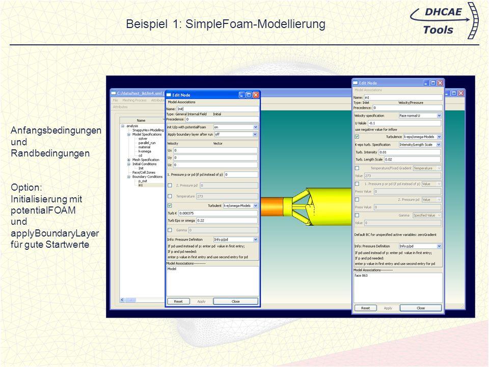 CastNet bietet neben der hybriden internen Vernetzung auch die Modellierung für den Skript- basierenden OpenFOAM-Vernetzer SnappyHexMesh (Hex-dominante Gitter) an.
