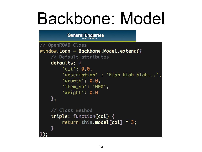 14 Backbone: Model
