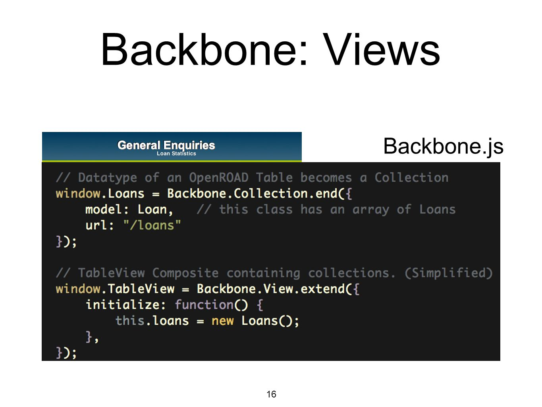 16 Backbone: Views Backbone.js
