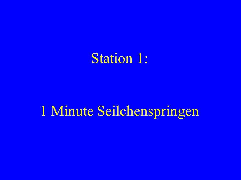 Station 2: 20 Sit-ups mit aufgestellten Füßen