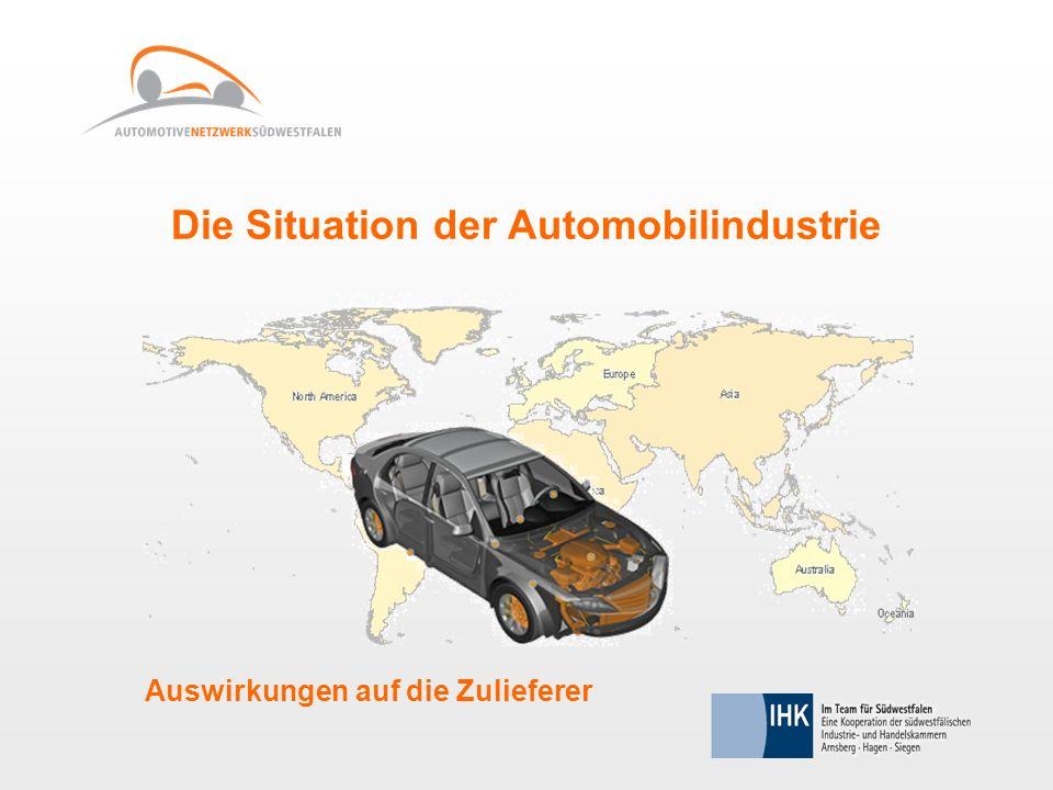 Die Situation der Automobilindustrie Auswirkungen auf die Zulieferer