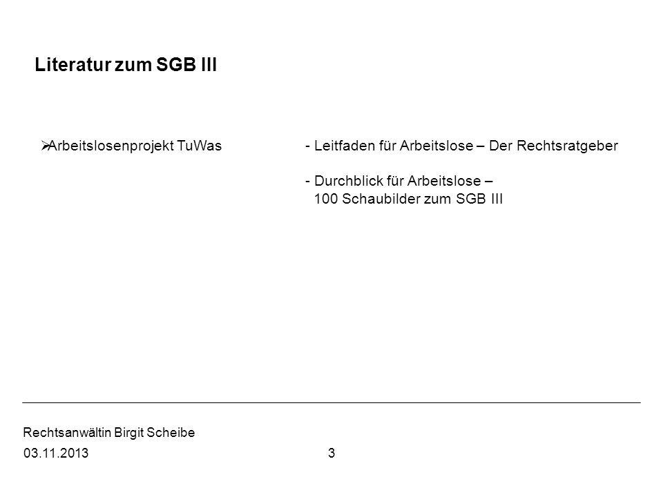 Rechtsanwältin Birgit Scheibe 403.11.2013 Literatur zu Menschen mit Migrationshintergrund Frings1.