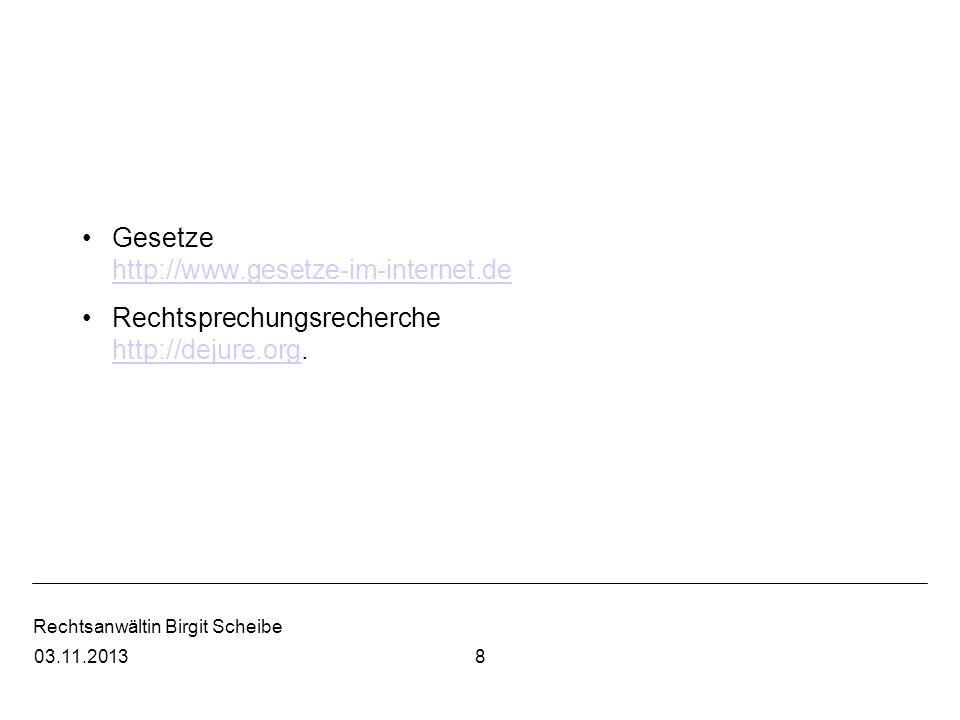 Rechtsanwältin Birgit Scheibe 15.06.10 Urteilsrecherche