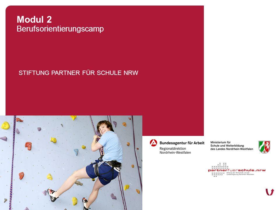 STIFTUNG PARTNER FÜR SCHULE NRW Düsseldorf, 06. März 2008 Modul 2 Berufsorientierungscamp