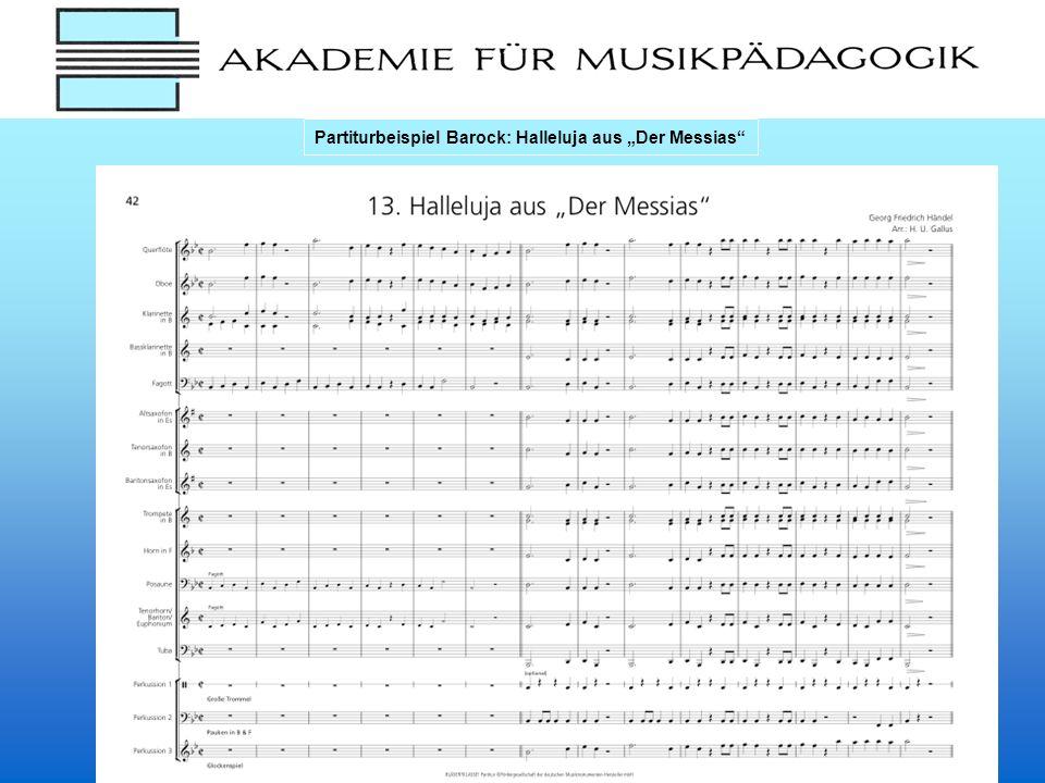 Partiturbeispiel Barock: Halleluja aus Der Messias