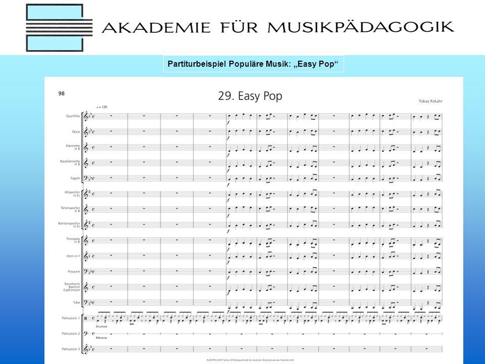 Partiturbeispiel Populäre Musik: Easy Pop