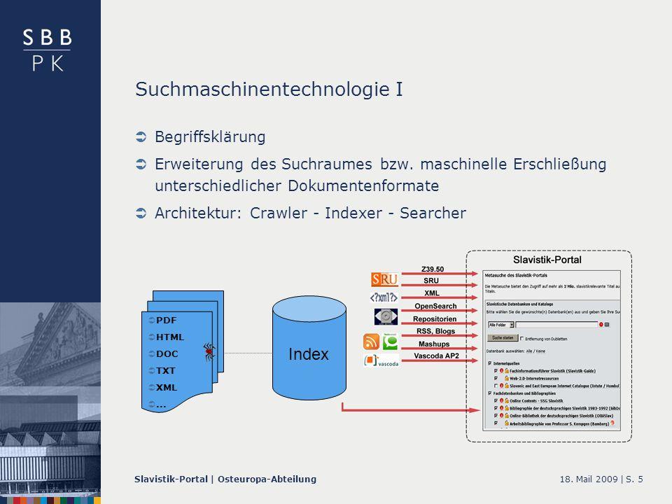 18. Mail 2009 |Slavistik-Portal | Osteuropa-AbteilungS.