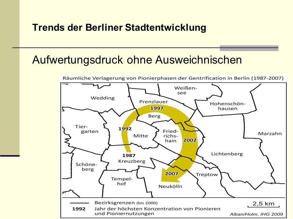 Trends der Berliner Stadtentwicklung Aufwertungsdruck ohne Ausweichnischen