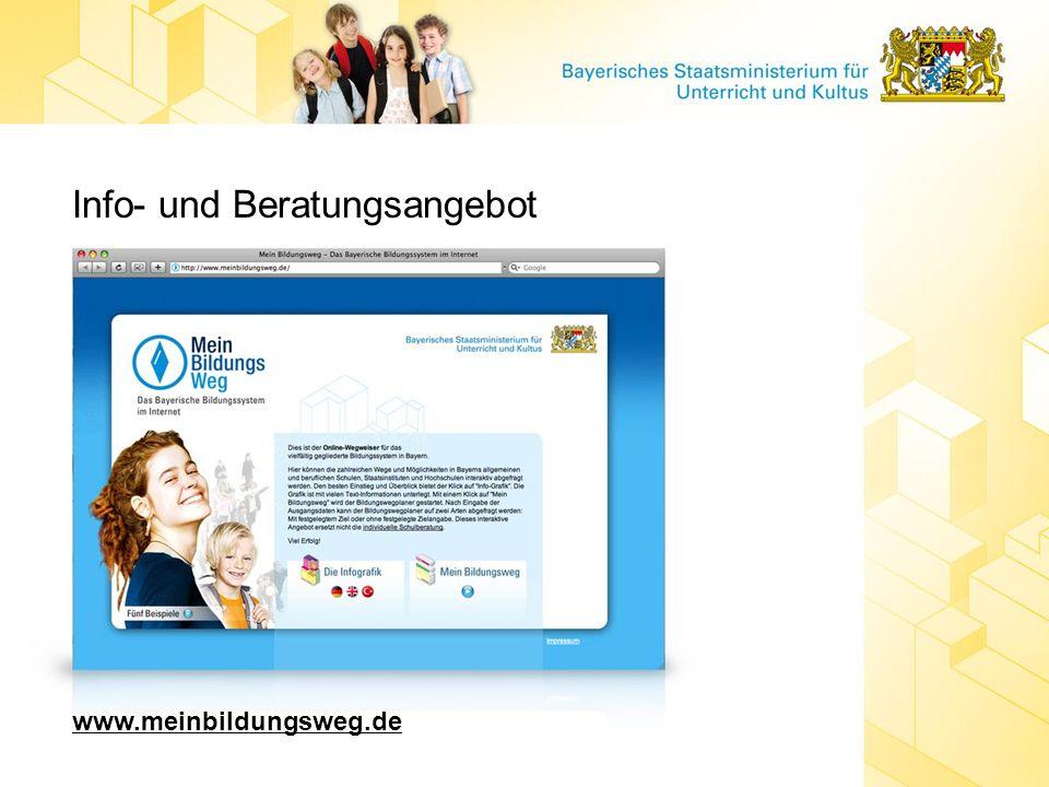 Info- und Beratungsangebot www.meinbildungsweg.de