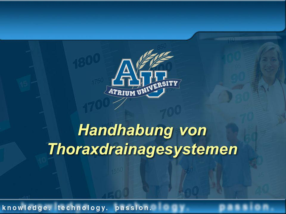 Handhabung von Thoraxdrainagesystemen