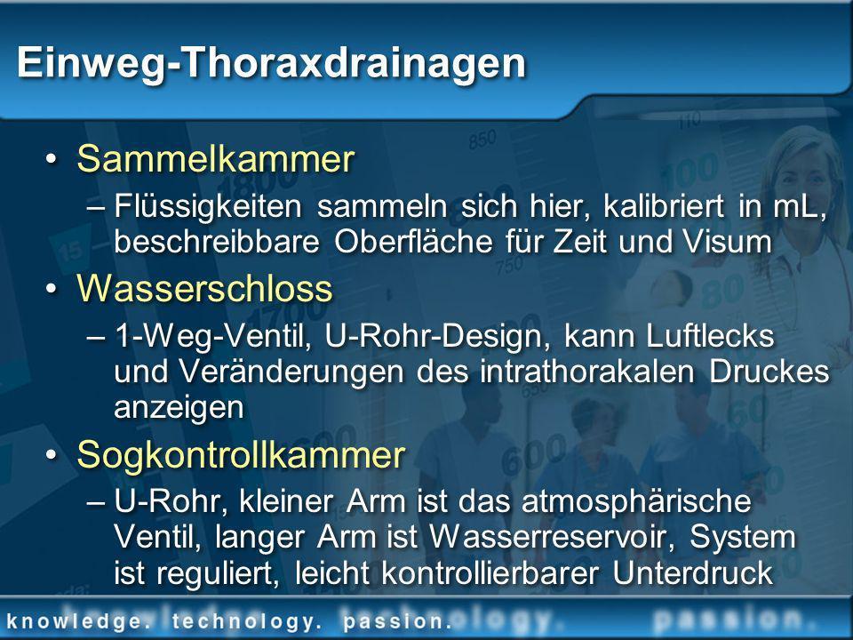 Einweg-Thoraxdrainagen Sammelkammer –Flüssigkeiten sammeln sich hier, kalibriert in mL, beschreibbare Oberfläche für Zeit und Visum Wasserschloss –1-W