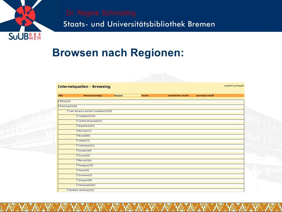 Browsen nach Regionen: Dr. Regine Schmolling