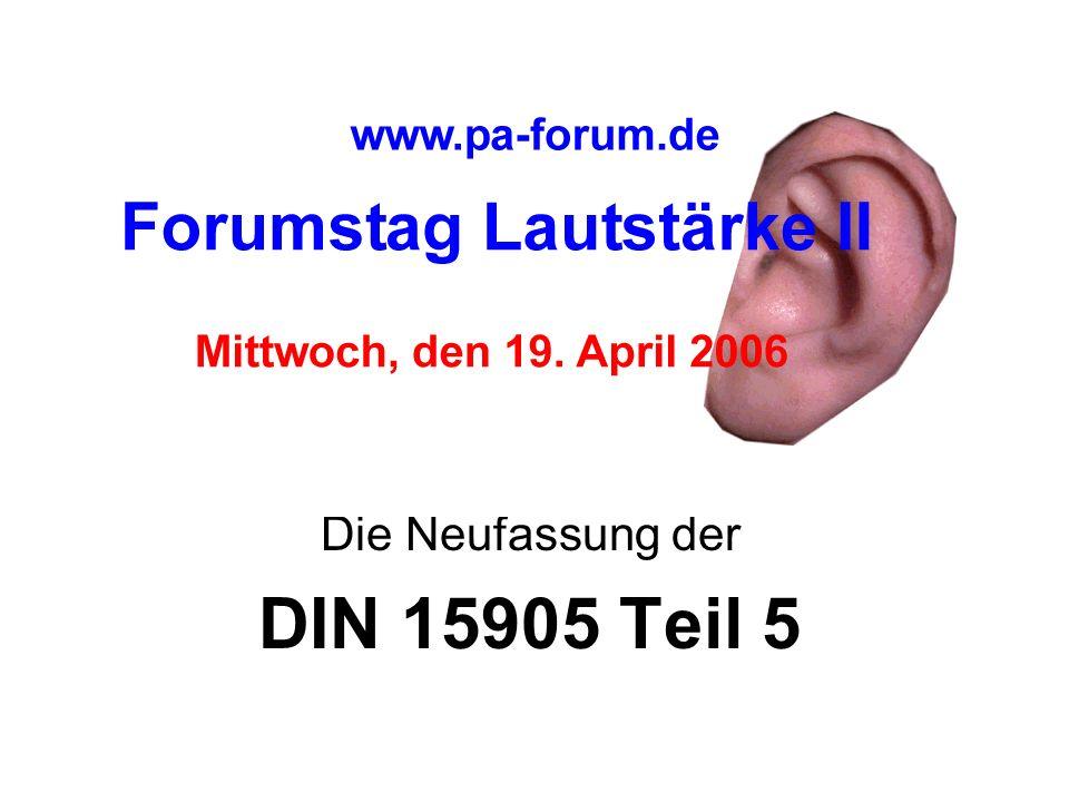 Die Neufassung der DIN 15905 Teil 5