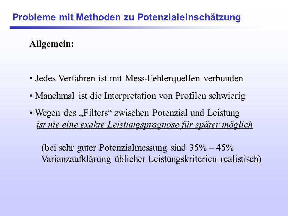 Übersicht 1. Potenzial und Leistung 2.Nutzen der Potenzialanalyse: Das Allokationsproblem in der Gesellschaft 3.Nutzen der Potenzialanalyse: Personale
