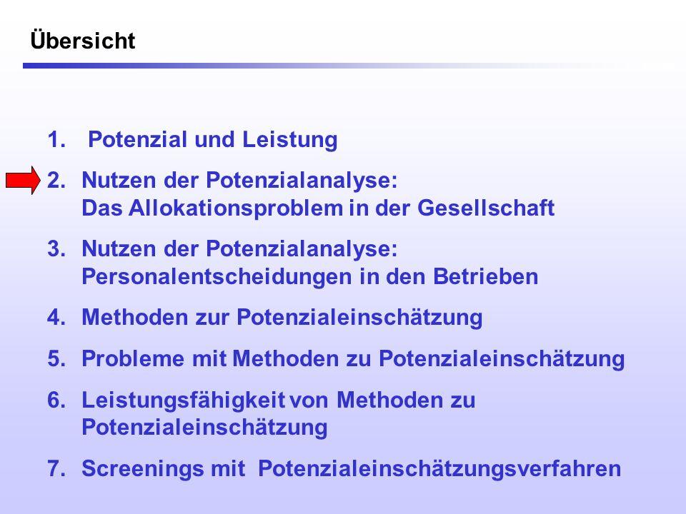 Nutzen: Personalentscheidungen in den Betrieben Häufige Problemfelder: Ursachen-Analyse bei (Leistungs-) Problemen (Liegt es am Wollen oder am Können?)