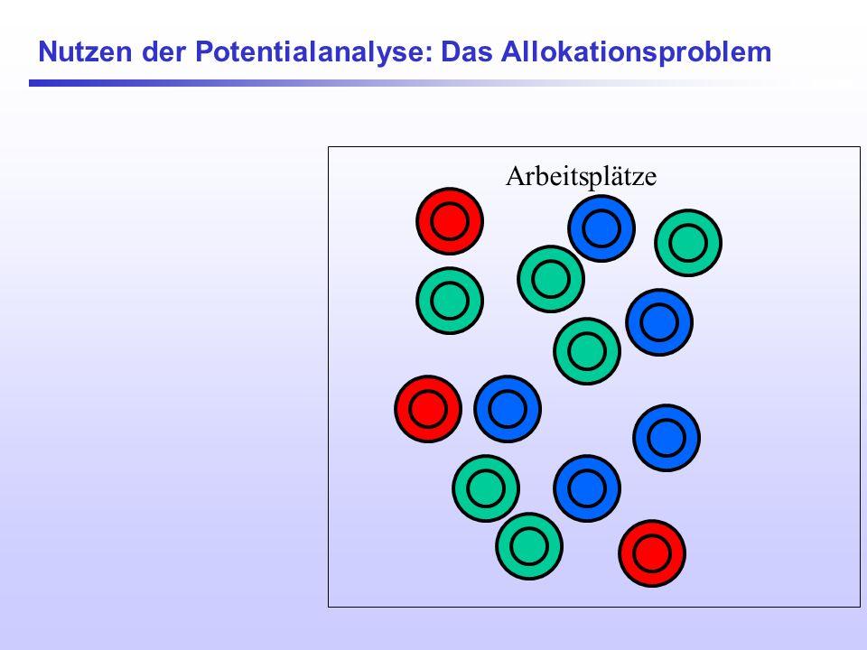 Nutzen der Potentialanalyse: Das Allokationsproblem Arbeitsplätze