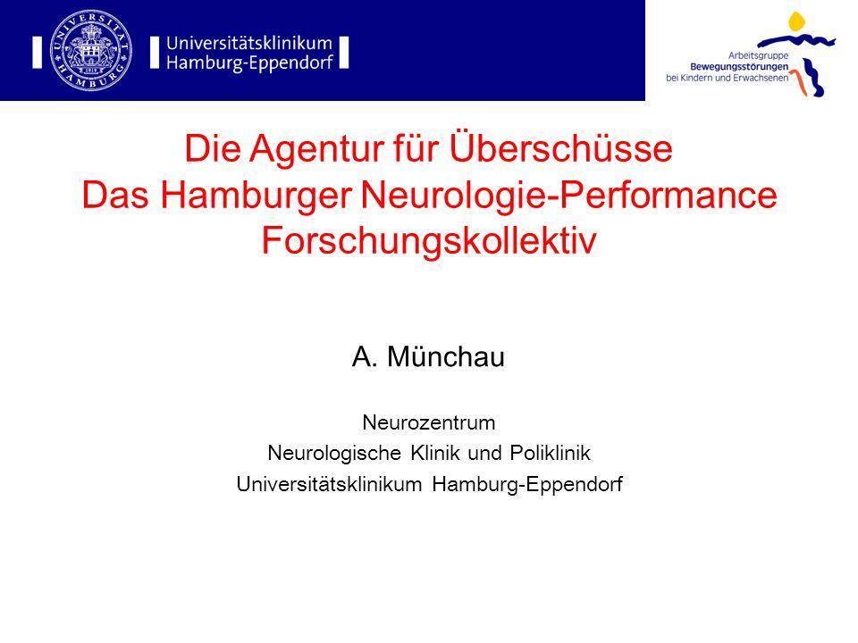 Die Agentur für Überschüsse Das Hamburger Neurologie-Performance Forschungskollektiv A. Münchau Neurozentrum Neurologische Klinik und Poliklinik Unive