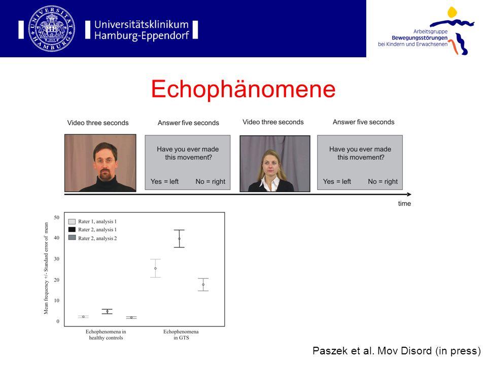 Echophänomene Paszek et al. Mov Disord (in press)