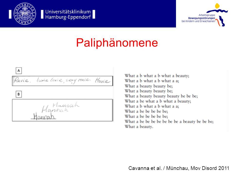 Paliphänomene Cavanna et al. / Münchau, Mov Disord 2011