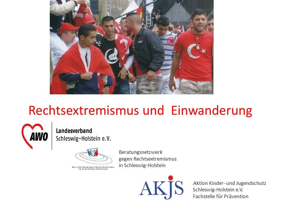 Rechtsextremismus und Einwanderung Aktion Kinder- und Jugendschutz Schleswig-Holstein e.V. Fachstelle für Prävention Beratungsnetzwerk gegen Rechtsext